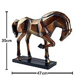 Hansmeier Deko Statue Pferd – edle Wohnungs-Deko – 47 x 35 x 13 cm – Design-Dekoration Pferd - 8