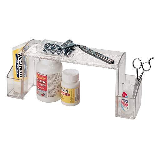 iDesign Med+ Hochbau Tabletten Organizer, Sortierkasten aus Kunststoff mit Griffen, durchsichtig