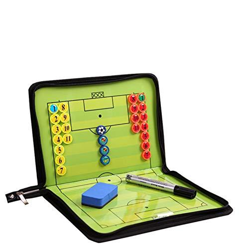 RoseFlower Carpeta Táctica de Futbol, Carpeta Pizarra Táctica de Entrenamiento Entrenador Magnéticas de Fútbol con Imanes, Lapiceros y Borrador (Tamaño: 53cm x 31cm)
