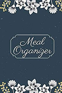 """Meal Organizer: Small 52 Week Meal Planner, Weight Tracker, Record Breakfast, Lunch, Dinner, Snacks, Water Consumption Diary, Grocery and Shopping ... Men, 6"""" x 9"""", 110 Pages (Food Planners)"""