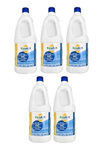 Sanity WC liquide pour réservoir eaux noires WC Camper principe actif Aqua Kem * * * 2 bouteilles de 5 litres * * *