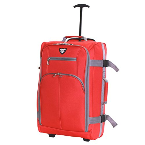 Slimbridge Cabin Carry-on Hand Luggage Suitcase Bag Ultra Lightweight 55 cm 1.5 kg 38.5 litres 2 Wheels, Lobos Red