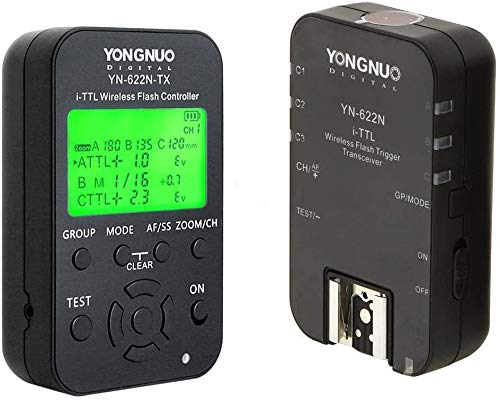 YONGNUO YN622N-KIT inalámbrico i-TTL de disparo de flash Kit con pantalla LED para cámaras Nikon NAMVO difusor de flash