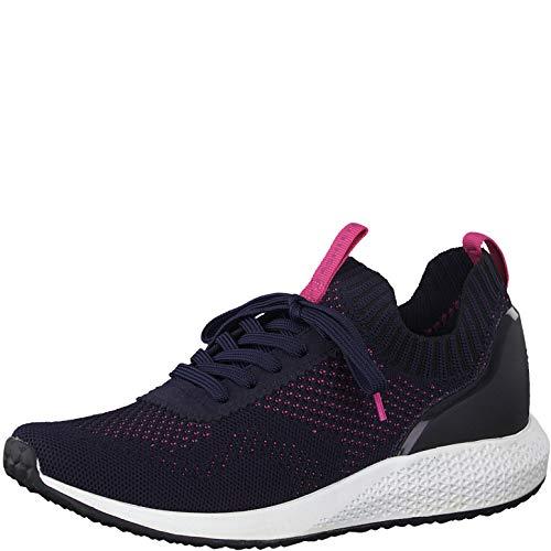 Tamaris Fashletics Damen Sneaker Blau/Pink, Schuhgröße:EUR 42