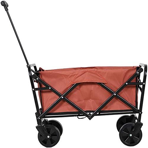 ZKHD Carro Utilitario Al Aire Libre, Camping Trolley Plegable, 600D Material De...