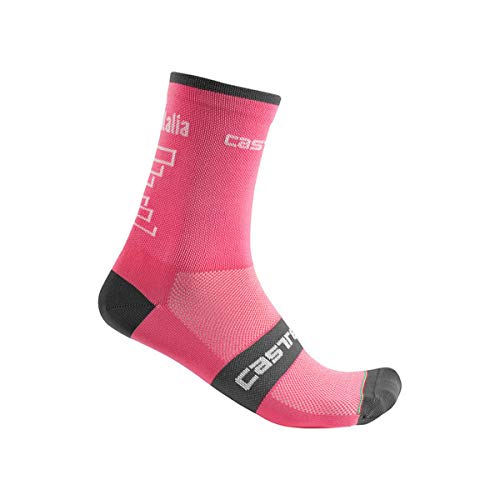 Castelli # Giro102 13 Sock, Calcetines de Ciclismo para Hombre, Hombre, 9510210, Rosa Giro, Small/Medium