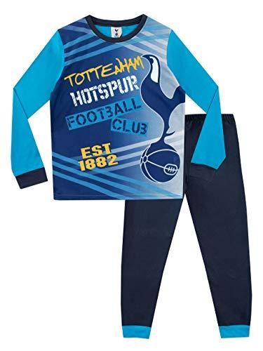 Tottenham Hotspur FC Pigiama a Maniche Lunga per Ragazzi Spurs Football Club Blu 9-10 Anni