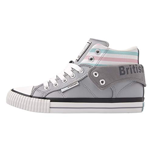 British Knights Sneaker B45-3734-01 Roco Grau LT Grey Turquoise Pink, Groesse:37 EU
