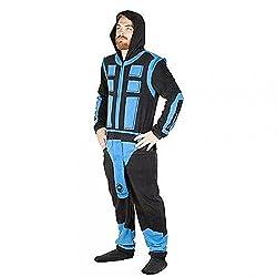 Mortal Kombat Sub-Zero Adult Size Union Suit Costume Polyester Pajamas