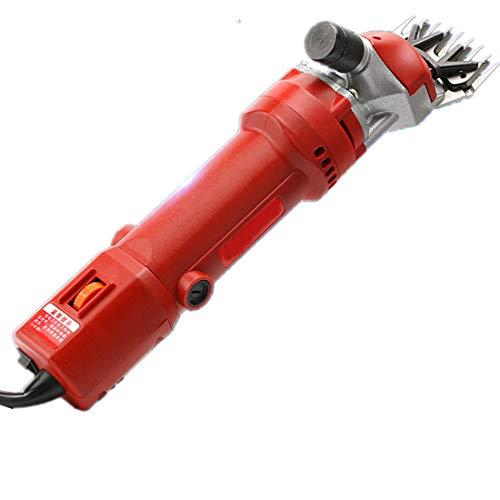 YMJ Máquina cortadora de esquila de ovejas eléctrica Suministros para Animales Cabra Alpaca Granja Máquina de Corte Caja Velocidad Ajustable 650W,Red