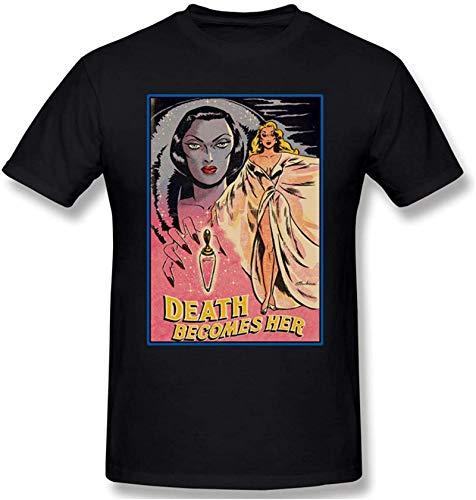 Death Becomes Her Men's Fashion Round Neck Short Sleeve T-ShirtBlack