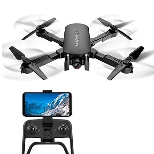 ZHCJH Plegable Mini RC Quadcopter 4K Selfie Drone, HD Dual Camera FPV Ladybird Altitude Hold Optical Flow RC Drone Helicóptero niños, 4k Negro