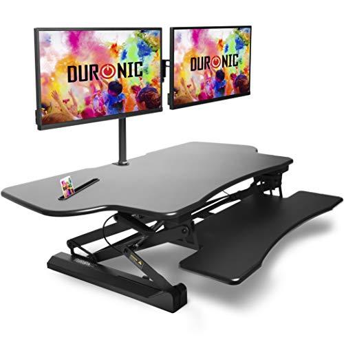 Duronic DM05D4 Estación de Trabajo para Monitor con Altura...