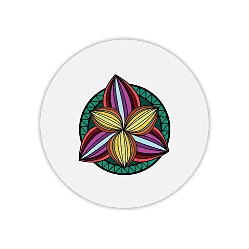 Alfombra ratón Redondo Estampado Mandala Flower