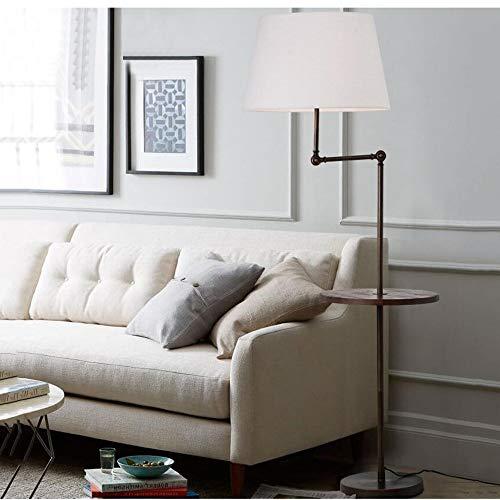 Stehlampen Amerikanischer Couchtisch Wohnzimmer Einfaches modernes Schlafzimmer Vertikale Tischlampe Nordic Creative Vertikale Tischlampe (Weißer Schirm, Leinenschatten, Grauer Schirm) zum Lesen