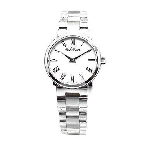 Paul Picot orologio donna Atelier bianco 30mm acciaio quarzo 4596S-110/B