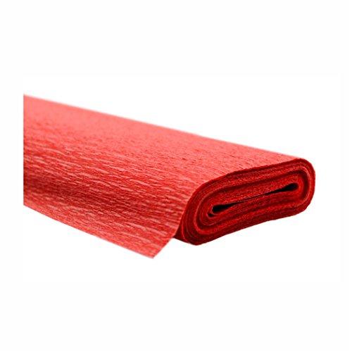 Creleo 791465 10 Rollen Krepppapier 50 x 250 cm rot -wasserfest- , wasserfest super starke Qualität 60g/m²