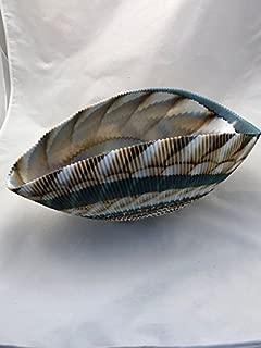 Murano Glass Gifts Persian Green/Creamy Milk Laguna Bowl