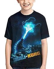 AQEWXBB Godzilla vs Kong T-shirts, Godzilla vs Kong korte mouwen, Anime Cosplay Tops, licht en comfortabel