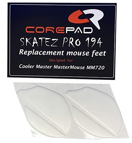 Corepad Skatez Pro 194 Pieds de Souris de Remplacement Compatible avec Cooler Master MasterMouse MM720 (Spawn Refresh/Xornet Refresh)