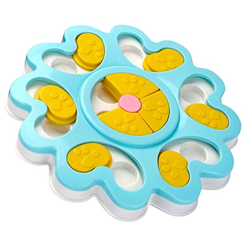 NYDREAM Dog Puzzle Toys-Puppy Treat Dispenser Dog Toys with Non-Slip/Increase IQ/Interactive Flower Slow Dispensing Feeding Pet Dog Training Games Feeder for Mini Dog Puppies