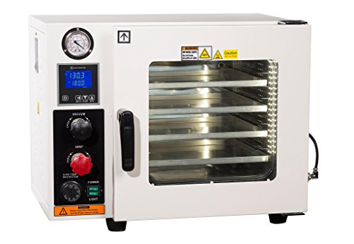 Across International AT09.110.UL Ai at UL CSA Certified 0.9 cu. ft. Vacuum Oven with 5 Sided Heating 110V Purging Oven with LCD Control, Gas Back-Fill Capability, Stainless Steel