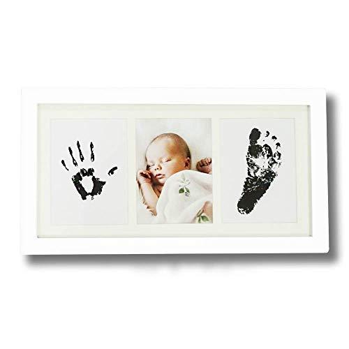 Baby Inkpad Fuß- & Handabdruck mit Fotorahmen-Kit als Andenken (Weiß)