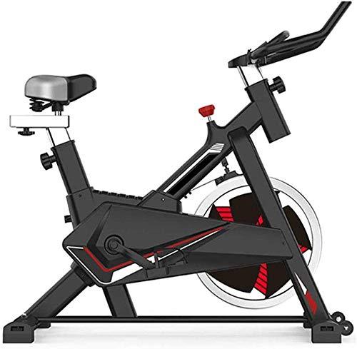 WGFGXQ Bicicleta estática Bicicleta giratoria estacionaria Suave y silenciosa Totalmente Ajustable con Sensor de frecuencia cardíaca y computadora de a Bordo Multifuncional para Fitness en casa