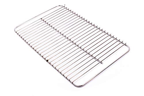 Broilmann 80631 Stainless Steel Cooking Grate for Weber Go-Anywhere, Replaces Weber 70211 & 3634, Fits Weber Charcoal and Gas Go-Anywhere grills, 16' x 10'