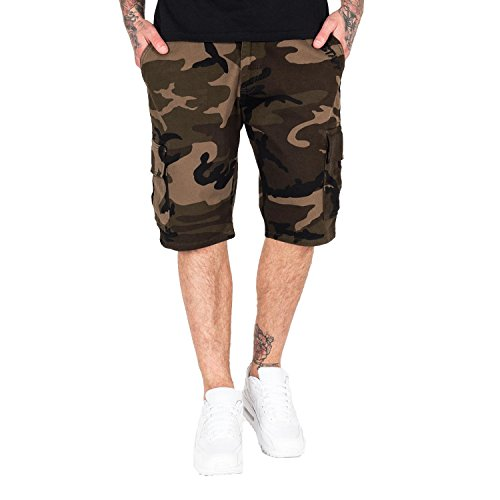 Amstaff Shorts Asutan Denim , Größe:L, Farbe:camouflage