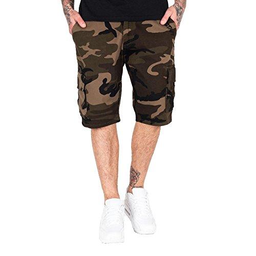 Amstaff Shorts Asutan Denim , Größe:S, Farbe:camouflage