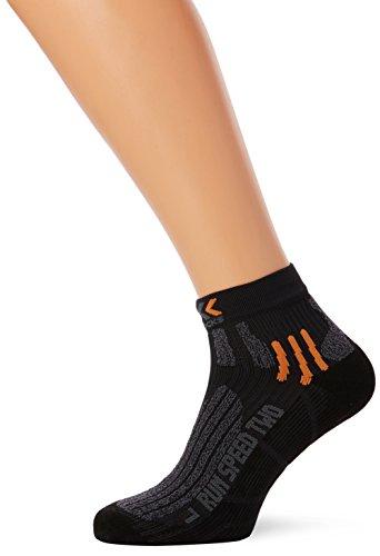 X-Socks Herren Socken RUN SPEED TWO, Black/Grey mouline, 35/38, X020432