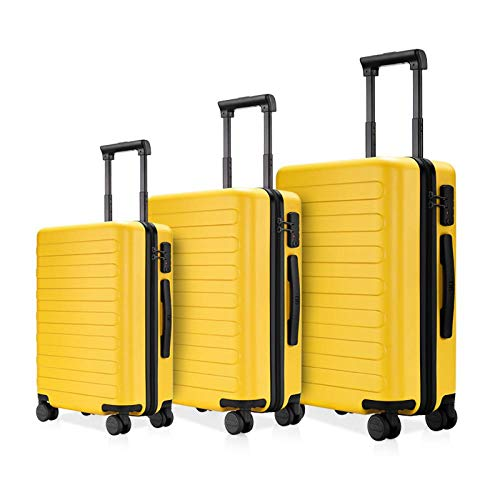 SFBBBO luggage suitcase Set Titanium Grey Suitcase Carry on Spinner Wheels Rolling Luggagelock Business Travel 202428inchset Yellow