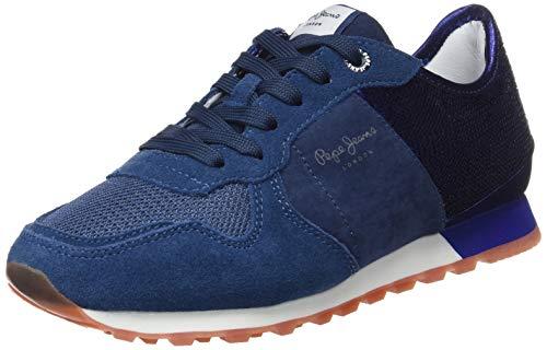 Pepe Jeans London Verona W New Sequins 2, Zapatillas Mujer, Azul (Purpleberry 465), 36 Eu