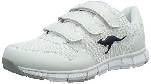 KangaROOS Unisex K-BlueRun 701 B Sneaker, White/Dark Navy 0042, 41 EU