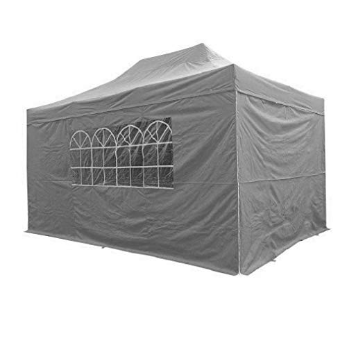AIRWAVE 3x4.5m Waterproof Grey Garden Pop Up Gazebo - Stunning Outdoor Marquee Tent with Carry Bag