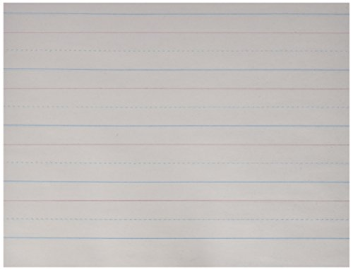 School Smart Zaner-Bloser Paper, 1-1/8 Inch Ruled, 10-1/2 x 8 Inches, 500 Sheets, White - 085328