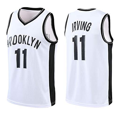 Z/A Brooklyn Nets Kyrie Irving # 11 atmungsaktiv und schweißabsorbierend Basketball Uniform Anzug Stickerei Jersey Weste Gewohnheit DIY Jersey,Weiß,S