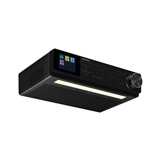Grundig DKR2000BT DAB + CD Küchenradio mit Bluetooth, DAB + Empfang und CD-Player Schwarz