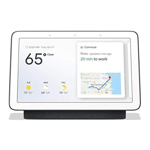 Google Nest Hub Nest Hub, Assistant, Rectángulo, Carbón Vegetal, Blanco, 17,8 cm (7'), Android,iOS, Rango Completo
