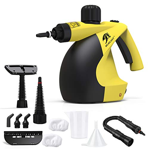 MLMLANT Multi-Purpose Handheld Pressurized Steam Cleaner with 11-Piece Accessory Kit for Multi-Surface Stain Removal, Floor Steamer, Window, Counters, Carpets, Curtains, Car Seats, Upholstery