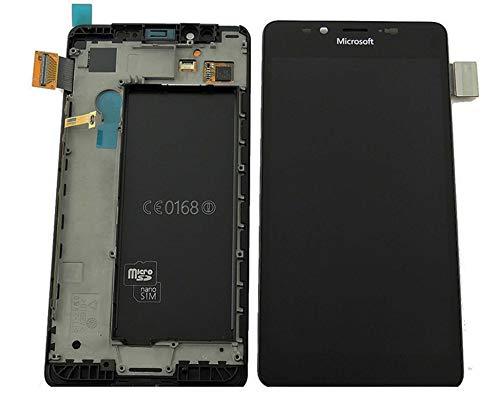 Original Microsoft / Nokia Lumia 950 und 950 DS Dual SIM LCD Bildschirm Touchscreen Touch Glas Display Komplett + Rahmen Schwarz PN: 00814K8