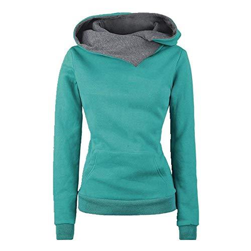 U/A New Hiver Vêtements Femmes Manches Longues Polaire Femmes Hoodies Sweat-shirts Lettre Imprimé Pulls Lady Tops - Vert - M
