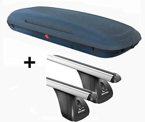 Dachbox VDPCA480 480Ltr carbonlook + Alu Dachträger Aurilis Original kompatibel mit Hyundai ix35 (5Türer) 2010-2015