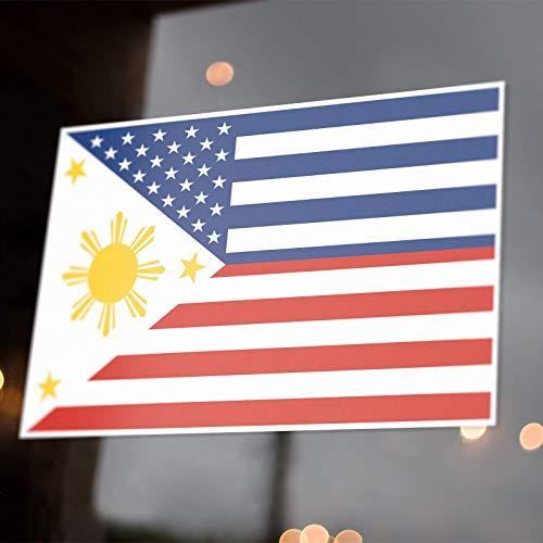 Filipino American Flag Sticker Decals USA Philippines FilAm Fil-Am Pinoy