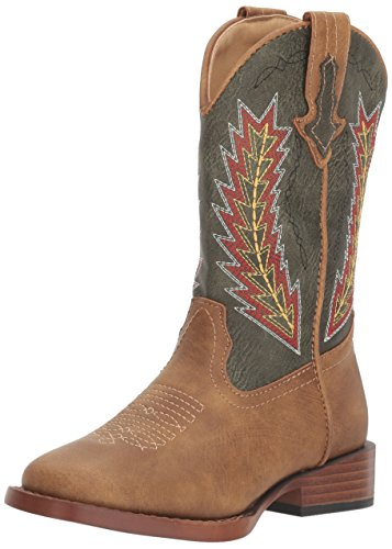 Roper Baby Boys Arrowheads Western Boot, tan, 1 Infant
