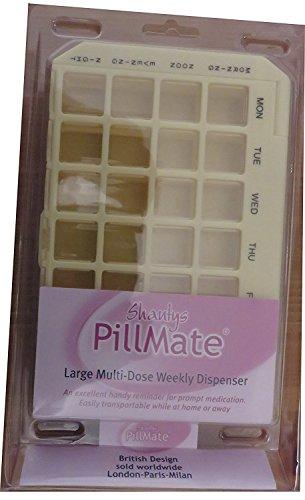 Pillmate Großer Multidosierer Wochenspender (Farbe kann variieren)