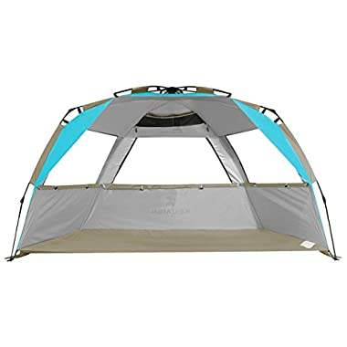 G4Free Easy Set up Beach Tent Pop up Sun Shelter Large Family Beach Shade UV Protection for Baby Kids,4 Person Portable Camping Shelter for Sports Beach tour Hiking Fishing or Picnic(Lake Blue)