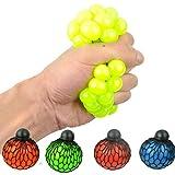 ZCED Set de Juguetes Sensoriales Fidget, Stress Ball Fidget Toy 1 Pieza Bola de Malla Bolas de Reducción de Estrés con Red Bolas de Pared Sensoriales Bola de Apretón