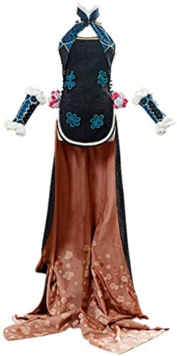 N\A ZT 5 unids/Set Anime Fate/Grand Pedir Fgo la concubina Imperial Yang Halloween Carnival Cosplay Traje Traje China Tradicional Cheongsam Dress Trajes (Color : L)